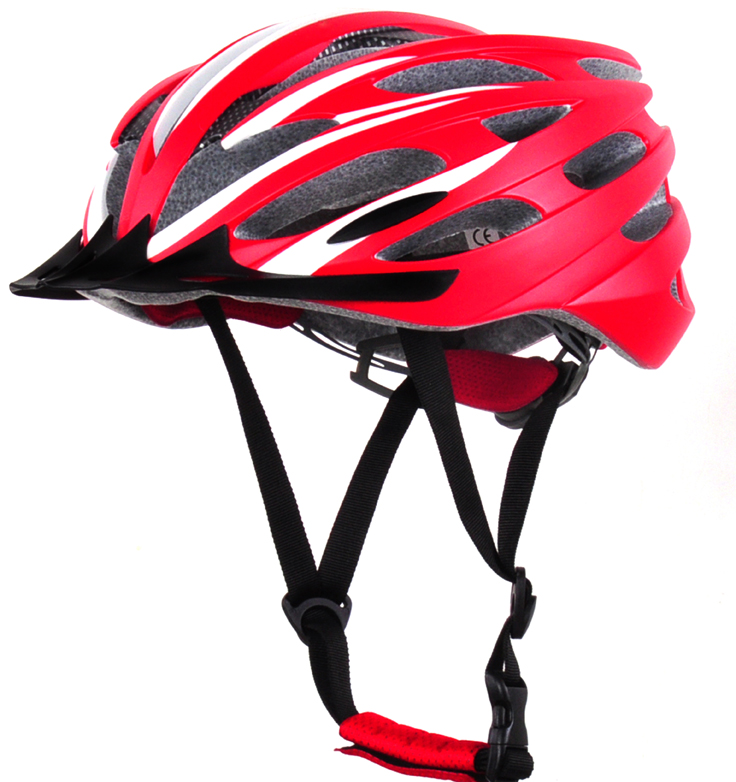 Factory price MTB bike helmet CE approved in-mold cycle helmet with removable visor