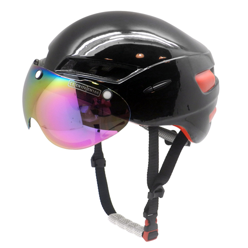 Factory price time trial bike helmet cool road racing helmet with magnetic visor